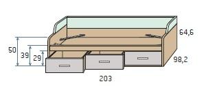 viengulė-lova-jaunuoliui-su-stalčiais