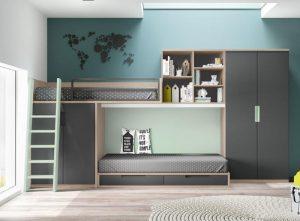 Jaunuolio-kambario-baldai-dviaukštės-lovos