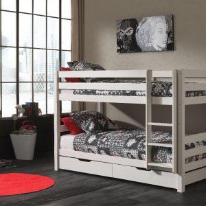 dviaukšte-lova-su stalčiais