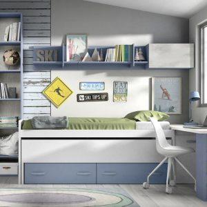 Dviejų-vaikų-kambario-baldai-lova-dviems-vaikams
