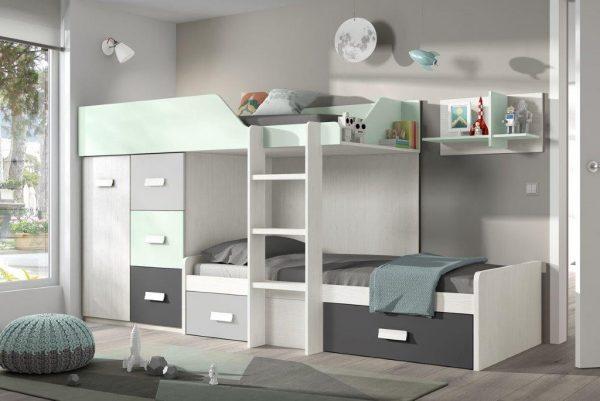 dviejų-aikštų-lova-su-komoda-spinta