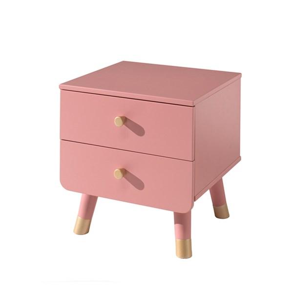 Rožinė-spintelė-prie-lovos