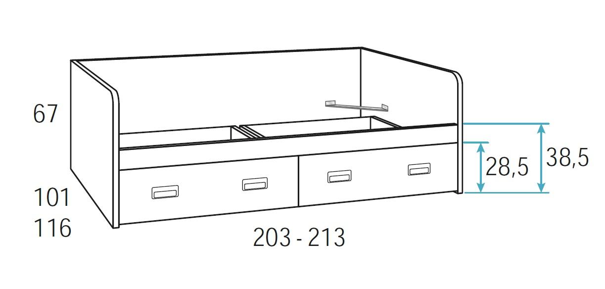 lova-su-stalčiais-jaunuolio-kambariui