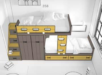 dviaukštė-lova-monoidėja-baldai-vaikams-modulinė-lova