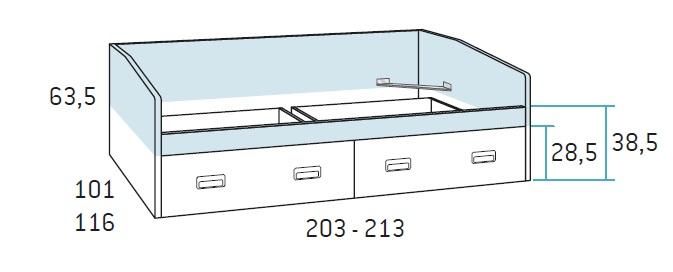 lova-su-dviem-stalčiais-jaunuolio-kambariui
