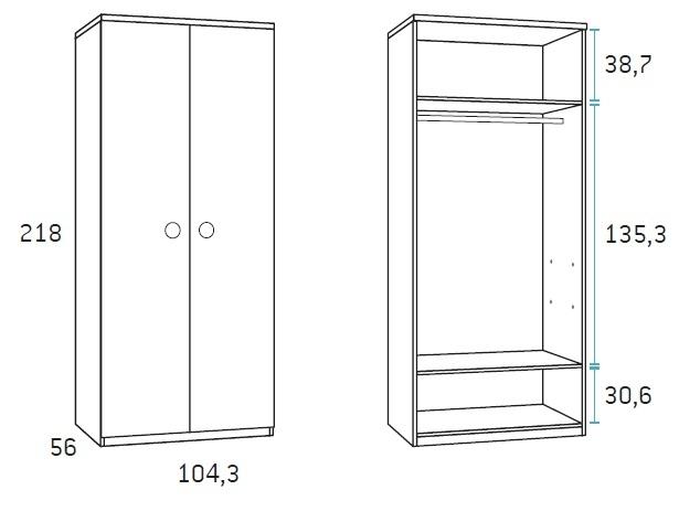 dviejų-durų-spinta-vaikams
