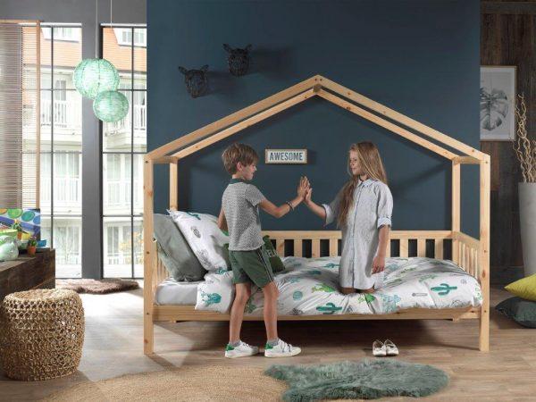 monoidėja-medinė-lova-namelis