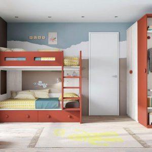 jaunuolio-kambarys-vaikams-su-dviaukšte-lova-trims