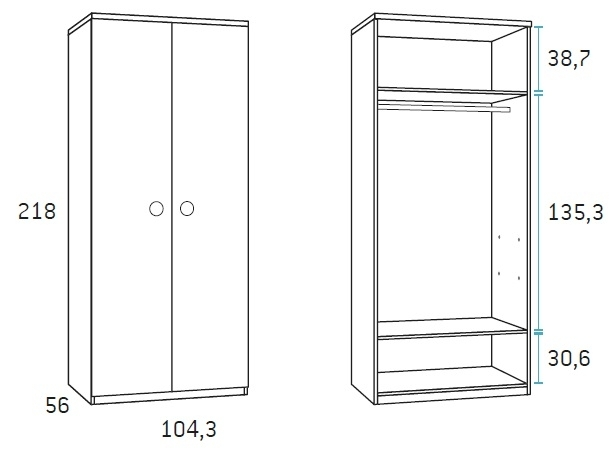 spinta-dviejų-durų