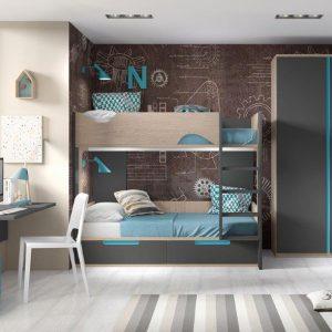 Jaunuolio-kambario-dviaukštė-lovavaikams
