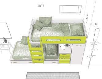 modulinė-dviaukštė-lova-su-spinta-ir-išvažiuojančiu-stalu