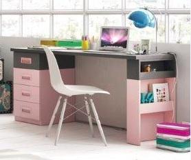 dviejų-spalvų-rašomasis-stalas-mergaitėms