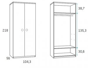 dviejų-durų-spinta