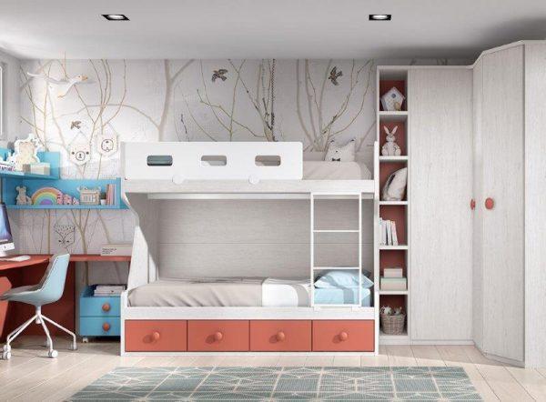Divstavu-gulta-dviaukštė-lova-jaunuolio-kambariui