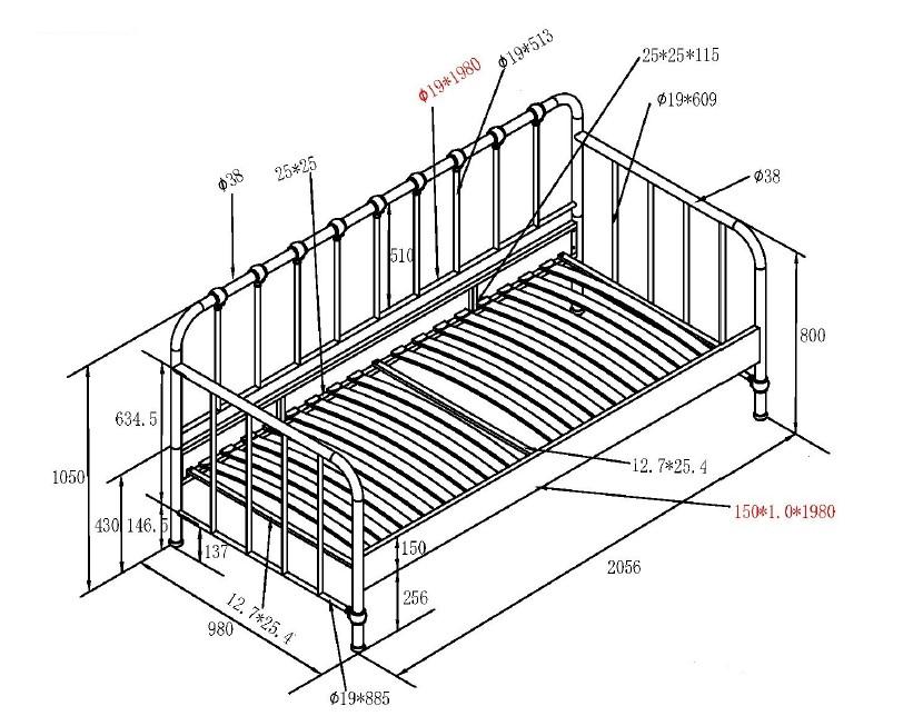 sofa-lova-metalinė-bronx