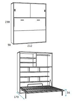 dvigulė-lova-spintoje-miegamojo-kambario