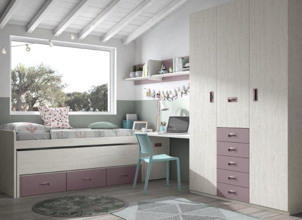 vaikiška-lova-vaikams-dviejų-jaunuolių-kambario-baldai