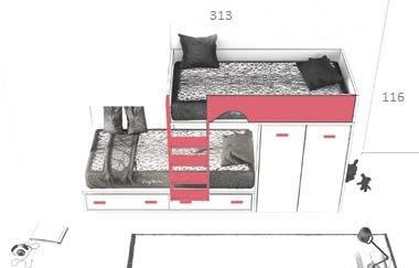 dviaukštė-lova-mergaičių-kambariui-Forma-modulinai-baldai-jaunuoliams