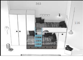 dviaukštė-lova-su-spinta-dviejų-vaikų-kambariui